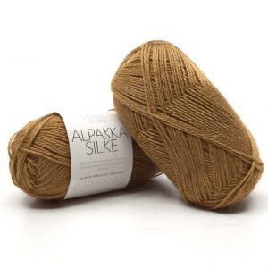 Alpakka Silke Brent gulbrun