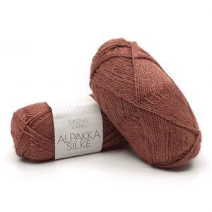 Alpakka Silke Varm brun