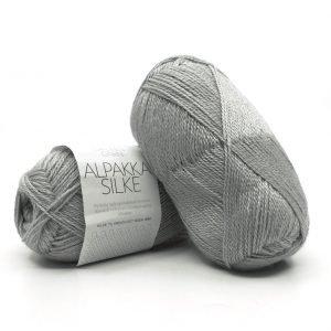 Alpakka Silke Lys gråblå